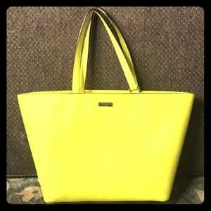 Preowned kate spade bright yellow leather tote